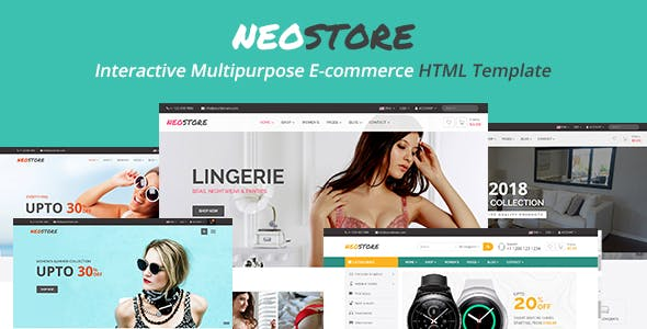 Neostore - Interactive Multipurpose Ecommerce HTML Template