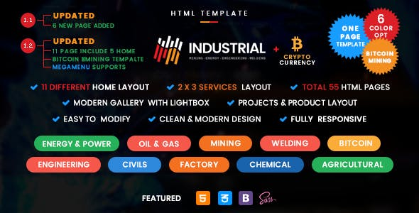 civil engineering templates from themeforest