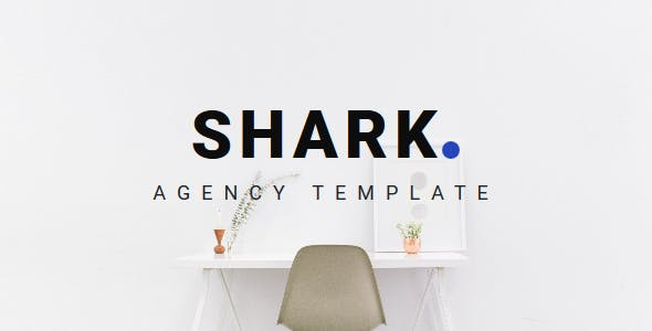shark agency landing template by themepaa themeforest