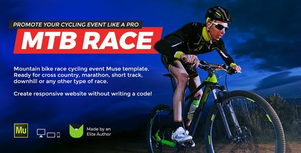 Mtb Race Mountain Bike Racing Marathon Cycling Event Website Muse Template