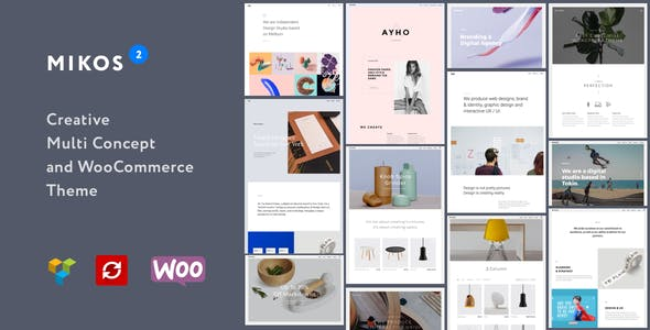 Business website templates compatible with wp e commerce mikos 2 creative multi concept and woocommerce wordpress theme flashek Choice Image