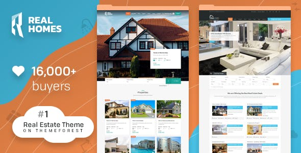 real homes website templates from themeforest