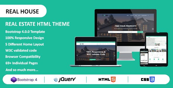 Real House Website Templates from ThemeForest on sample database, sample doc, sample software,