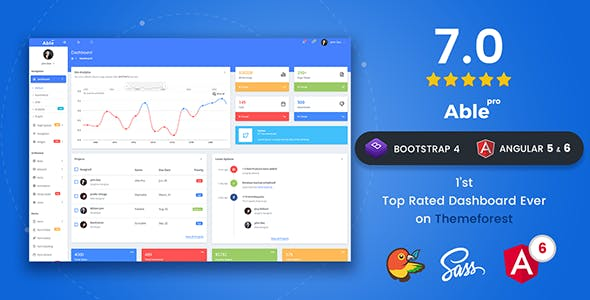 Able pro 7 0 Responsive Bootstrap 4 Admin Template + Angular