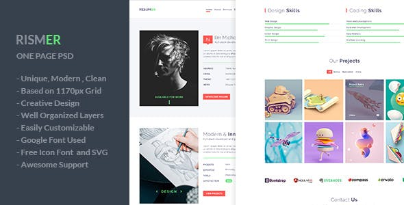 Colorful Templates from ThemeForest