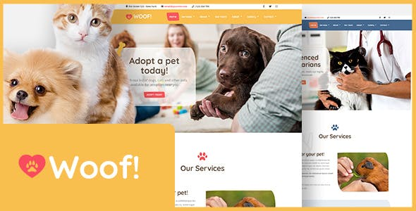 Woof! - Pet WordPress Theme