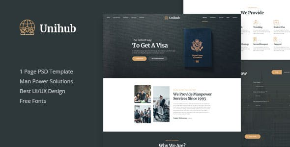 Unihub Man Business Psd Template