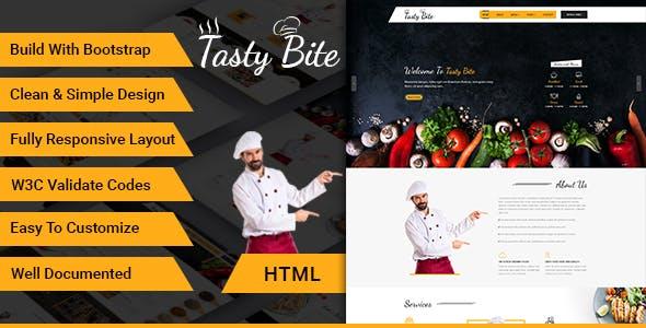 Tastybite Food Restaurant Bootstrap HTML5 Template
