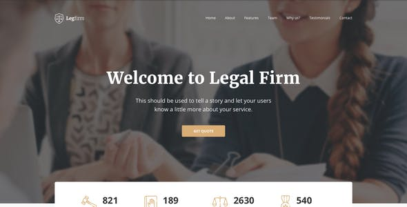 legal adviser templates from themeforest