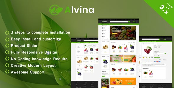 Alvina Organic OpenCart 3.x Theme nulled theme download