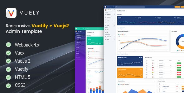 Top 10 Vue admin Nulled Themes 2019 Free Download