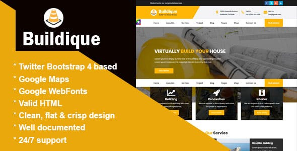 HTML Website Templates From ThemeForest - Html web page template