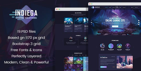 Gaming Templates from ThemeForest