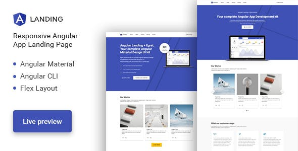 HTML Technology Website Templates compatible with Angularjs