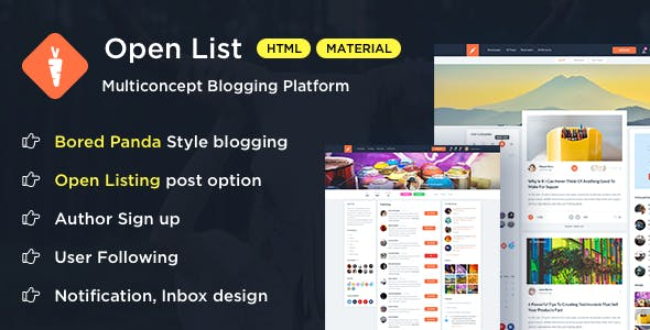 Social network templates from themeforest open list blogging platform bootstrap template maxwellsz