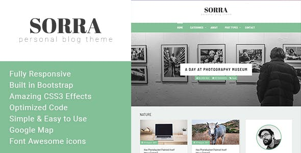 Personal Website Templates from ThemeForest