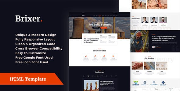brick templates from themeforest