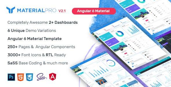 MaterialPro Angular 6 Admin Template free theme download