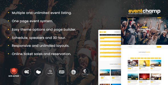Event Champ – Multiple Events & Conference WordPress Theme