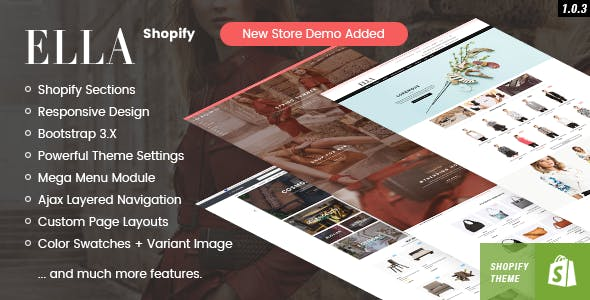 Ella - Responsive Shopify Template (Sections Ready) by