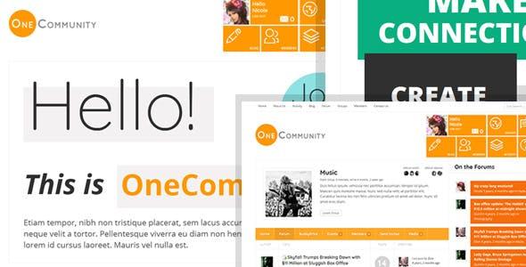 OneCommunity - BuddyPress Community e-Learning LMS Theme nulled theme download