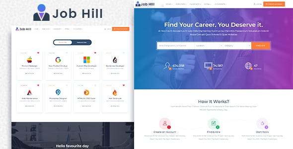 Freelance Portal HTML Website Templates from ThemeForest