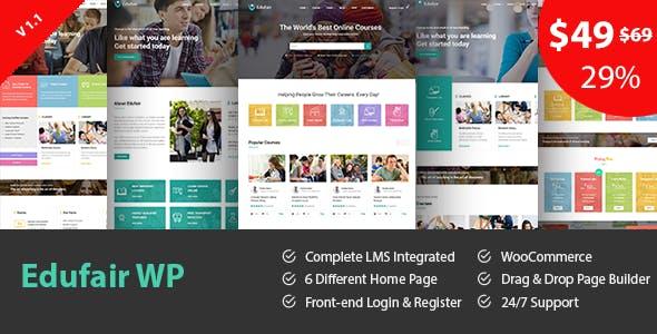Edufair - Multipurpose WordPress Theme For Education by BanyanTheme