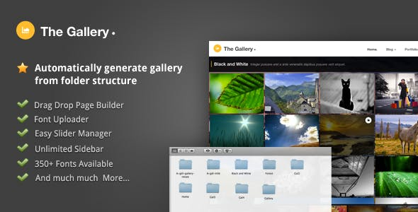 Gallery Website Templates from ThemeForest