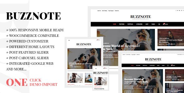 Lifestyle Blog Templates from ThemeForest