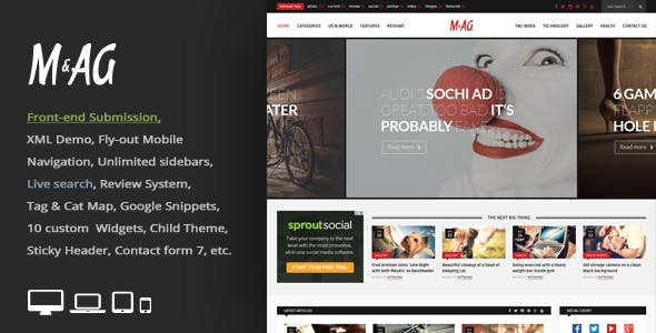3 Column WordPress Themes from ThemeForest