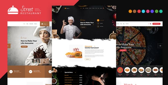 pizza shop website templates from themeforest
