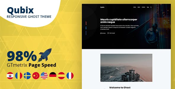 Seo blogger templates from themeforest qubix minimal and clean ghost blog theme maxwellsz