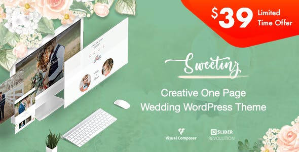 Sweetinz - Creative OnePage Wedding WordPress Theme nulled theme download