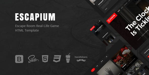 Escape Room HTML Website Templates from ThemeForest