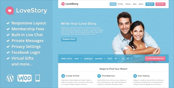 Dating Website Templates from ThemeForest