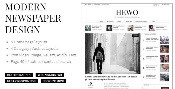 Newspaper Html Website Templates From Themeforest