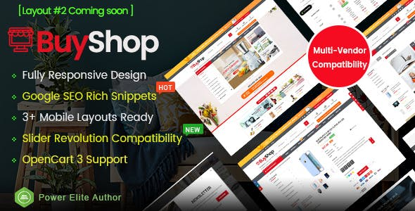 BuyShop - Responsive & Multipurpose OpenCart 3 Theme free
