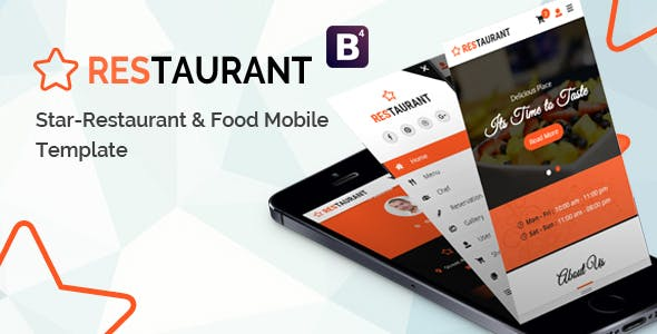 HTML Mobile Website Templates compatible with Bootstrap
