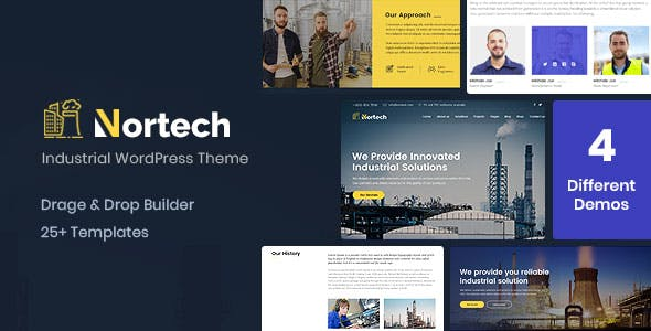Wordpress business themes from themeforest nortech a industry and engineering wordpress theme flashek Image collections