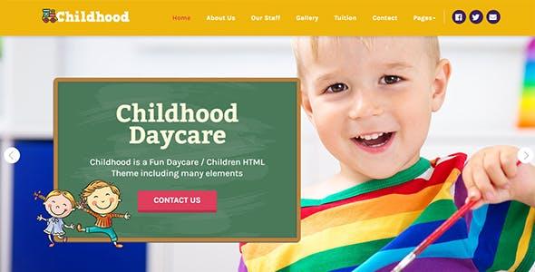 Childhood Children Daycare Html Template