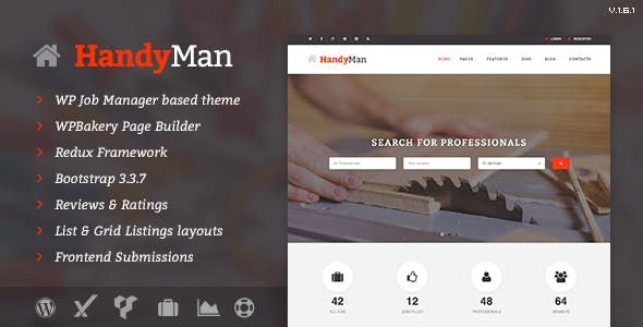 Construction WordPress Directory Theme from ThemeForest