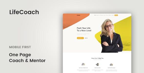 Lifecoach Coach Speaker Mentor Template Corporate Site Templates
