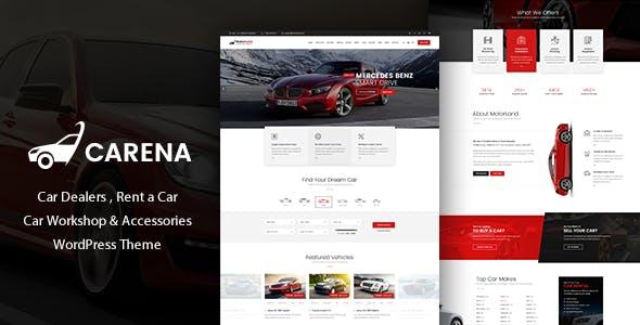 Carena - Car Dealer Rental and Automative WordPress Theme