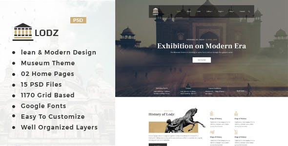 Museum Templates from ThemeForest