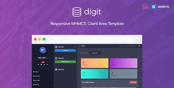 Digit - Responsive WHMCS Client Area Template nulled theme download