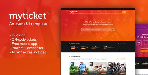 Ticket Event Website Templates From ThemeForest - Event website template