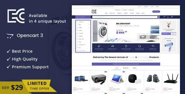 eCode - Multipurpose OpenCart 3 Theme free theme download