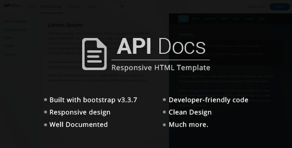 Api website templates from themeforest api docs rest api documentation templates malvernweather Image collections