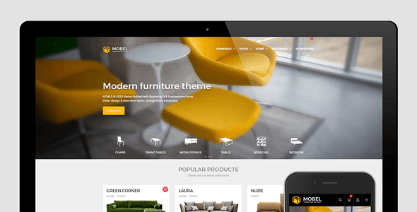 Mobel Website Templates from ThemeForest