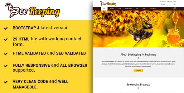 bee templates from themeforest